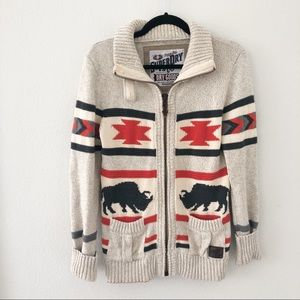 SuperDry Bull Cardigan Cotton Sweater Medium